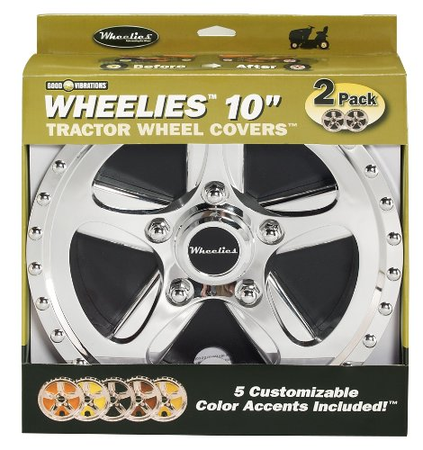 Best Wheel Covers For Lawn Mowers - Good Vibrations 180 2 Count Tractor