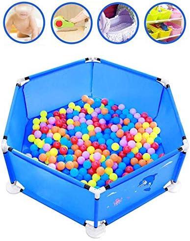 Hyzb Parc de Jardin pour bébé avec 100 balles (diamètre: 5.8 cm), barrière de sécurité
