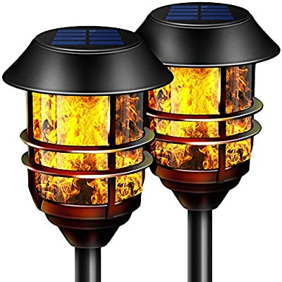 Solar Lights Outdoor Pathway Torches