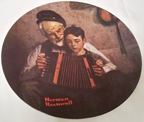 """Norman Rockwell Heritage Collection """"The Music Maker"""" Fine China Collector Plate"""
