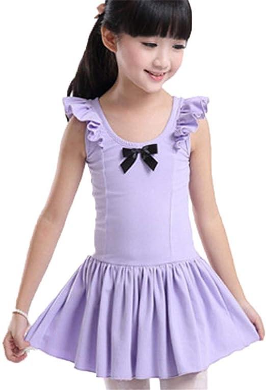 AUMING Vestidos de Ballet de niña Niñas Algodón Falda Leotardo ...