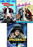 Candy Comedy Movie Pack Crude Uncle Buck / Spaceballs Spoof + Armed and Dangerous DVD Bundle Triple Feature Collection