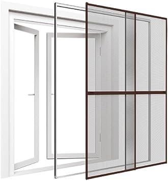 Mosquitera para puerta 230 x 240 cm (BxL) marrón doble puerta mosquitero reja de protección: Amazon.es: Bricolaje y herramientas