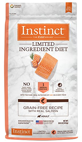 Instinct Limited Ingredient Diet Grain Free Recipe with Real Salmon Natural Dry Dog Food by Nature's Variety, 20 lb. (Diet Salmon)
