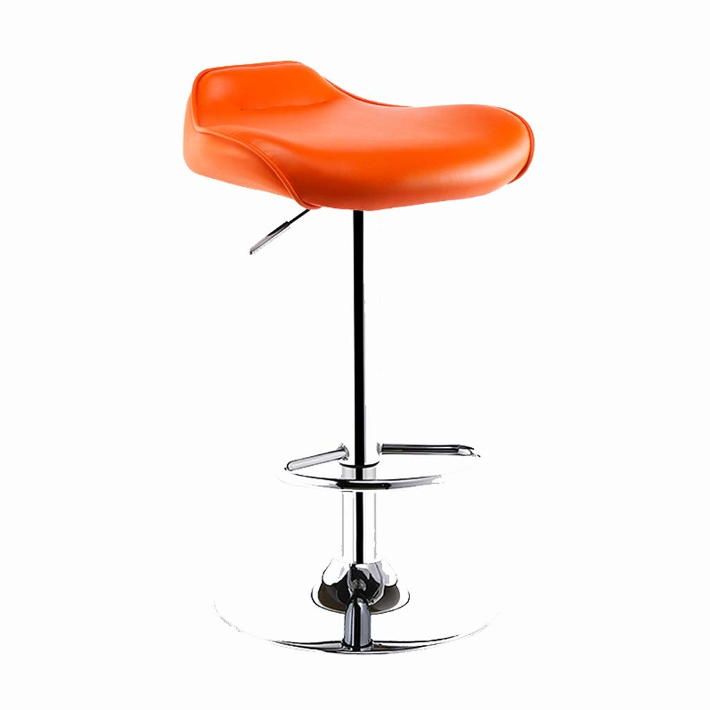 Amazon.com: Xue Adjustable Bar Stool Rotating High Chair Counter Height  Front Desk Cushion Home Cafe Indoor Dining Chair Grey (Color : Orange):  Kitchen U0026 ...