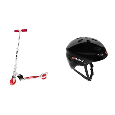 Razor A3 Kick Scooter, Red, Frustration Free Packaging w/ Black Helmet : Sports & Outdoors
