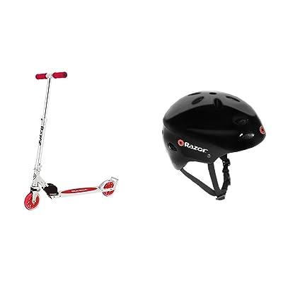 Razor A3 Kick Scooter (Red) w/ Black Helmet : Sports & Outdoors