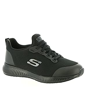 Skechers Work: Squad Sr Black Blk Womens Sporty Shoes Size 12M