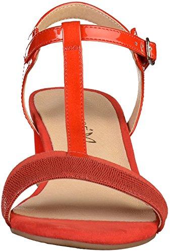 Caprice Damen 28215 Slingback Sandalen Rot