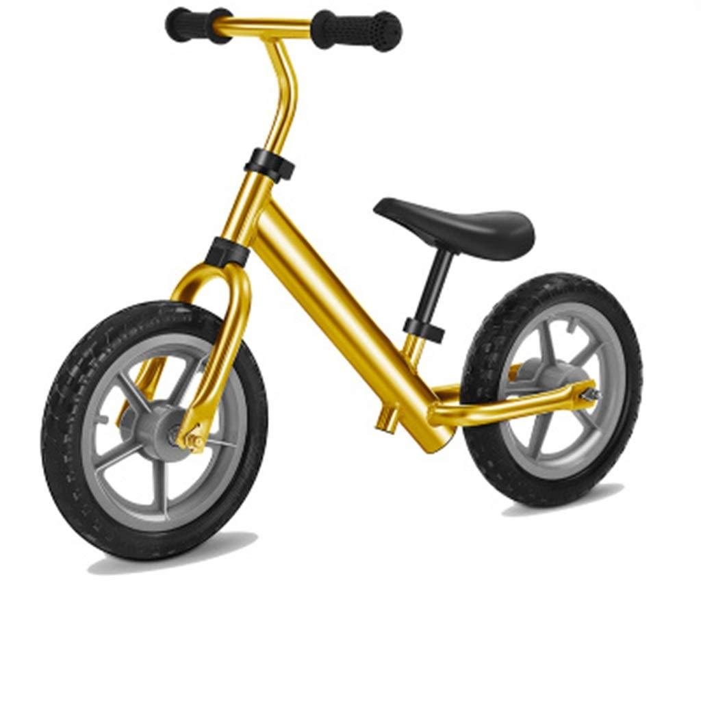 estilo clásico QAZWSX QAZWSX QAZWSX Bicicleta para Niños, Cochero De Equilibrio para Niños 2-6 Años De Edad, Bicicleta De Scooter De Dos Ruedas, Aleación De Aluminio para Niños, Bicicleta De 11 Pulgadas ( Color   amarillo )  promociones