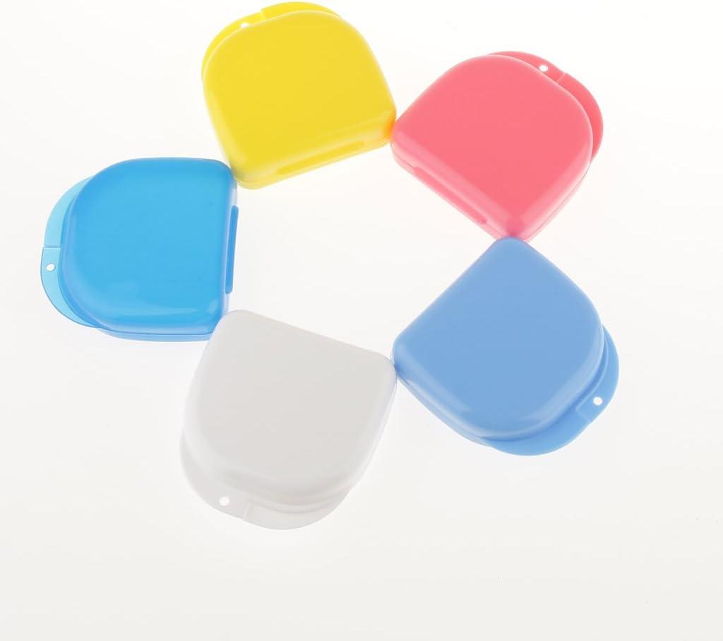 Agujero De Aire Caja Dentadura Retenedor Mouthguard Caja De Almacenamiento Envase Rosa: Amazon.es: Salud y cuidado personal