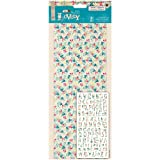 Papermania 106-Piece Sew Lovely Canvas Alphabet Stickers