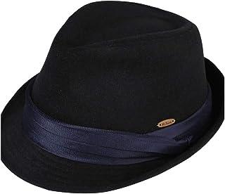 HYF Cappello Maschio Inverno Lana Caldo Nero Cappello Fedora Signore Inverno Moda Marea Versione Coreana del Cappello di Feltro di Colore Solido (Colore : Grigio, Dimensione : 56-58cm)