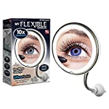 """My Flexible Mirror 10x Magnification 8"""" Make Up Round Vanity Mirror for Home, Bathroom use with Super Strong Suction Cups As Seen On TV"""