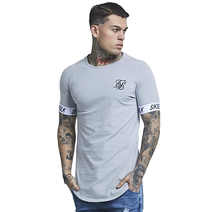 Camiseta Siksilk – Tech Gris/Negro Talla: XS (X-Small)