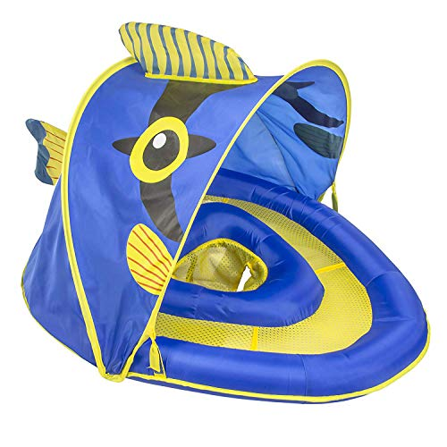 SwimSchool Angel-the-Fish Fabric Baby Pool Float with Canopy