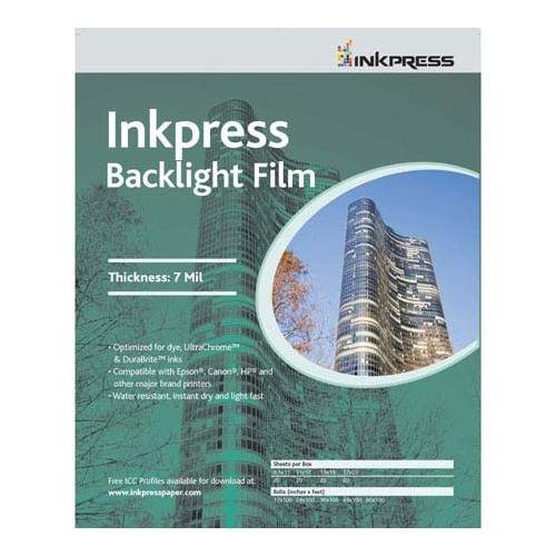 Inkpress IBF851120 Specialty Media Backlight Film 7 Mil 8.5in. X 11in. 20 Sheets