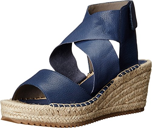 Eileen Fisher Women's Willow Dark Mulberry Tumbled Leather Sandal 7 B (M)