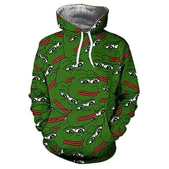 cdeea5225 Pepe The Frog Print Hoodie Sweatshirt Unisex3D Hoodies Sweatshirts ...