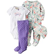 Carter's Baby Girls' 4 Pc Sets 126g463, Heather, New Born