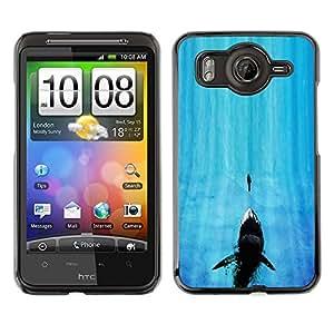 Caucho caso de Shell duro de la cubierta de accesorios de protección BY RAYDREAMMM - HTC G10 - Tiburón de mandíbula