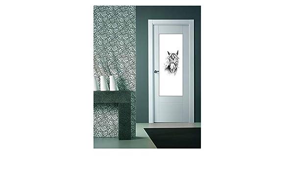 CustomGlass Cristal Decorado para Puertas de Interior Modelo Huant (Comunidad Valenciana): Amazon.es: Hogar