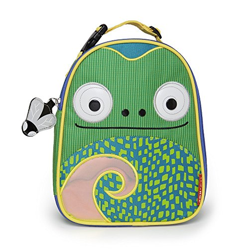 Skip Hop Baby Zoo Little Kid and Toddler Insulated Lunch Bag, Cody Chameleon (Box Snack Lunch Bag)