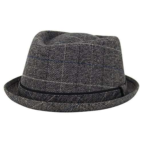Short Brim Fedora - London Fog Heritage Men's Short Brim Fedora Hat (Charcoal, Large/X-Large)