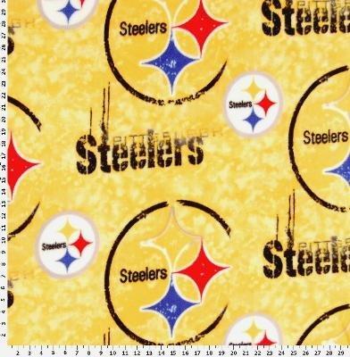 Pittsburgh Steelers Fleece Fabric - Anti-Pill Pittsburgh Steelers Fleece F18