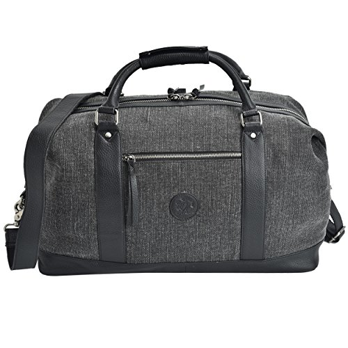 Leather Canvas Overnight Duffle Bag by Estalon Only $22.99 **Today Only**