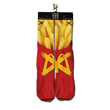ODD SOX Mens Fries Mcdonalds Socks Red