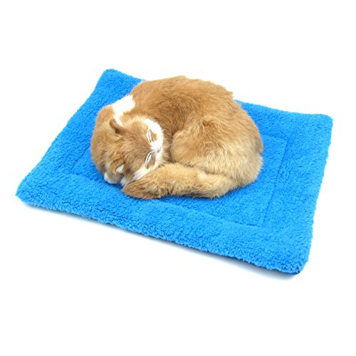 Alfie Pet by Petoga Couture - Ruby Fleece Sleeping Mat for Dogs and Cats - Color: Blue, Size: (Siamese Ruby)