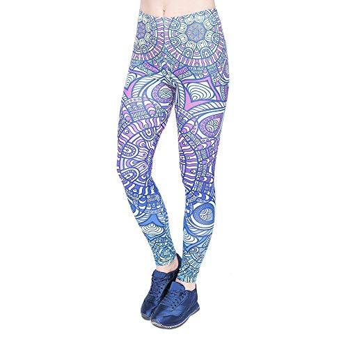 Alta Mandala Ragazza Pantaloni Chic Leggings Da Donna A Moda Stampa Pants Lga45997 Yoga Fitness Blue Ombre Legging Vita Stretch x4wTxnISr