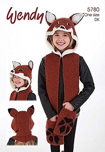 Amazon Com Wendy Childrens Novelty Fox Animal Hat Scarf Mode