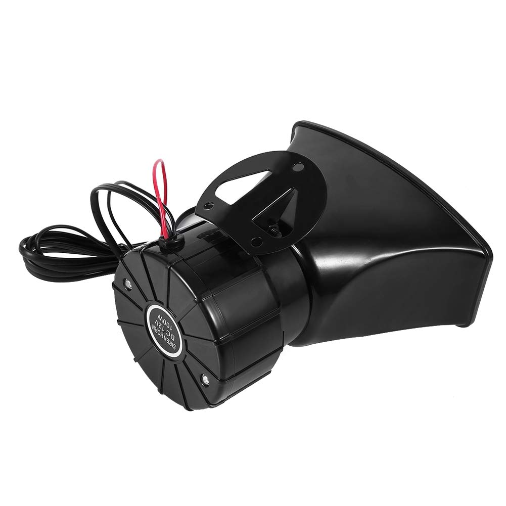 Cuque 7 Sounds 12V Car Van Siren Horn Speaker Car Siren Horn with PA MIC Speaker for Car Boat Van Truck