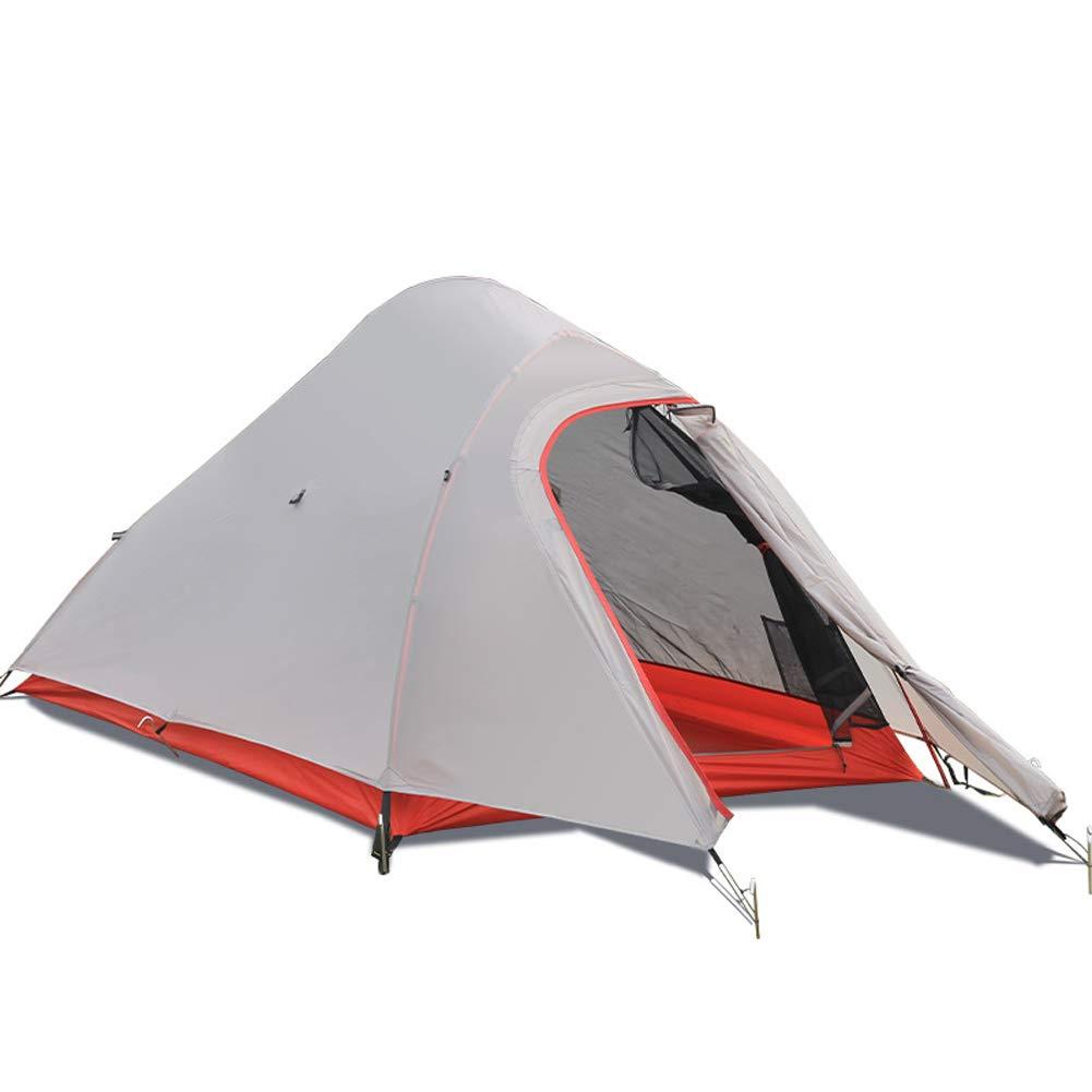Outdoor Nylon beschichtete Silikon Doppelschicht Aluminium Pole Anti-Sturm Regen Feld Camping Zelt Single Pole Ultra Light