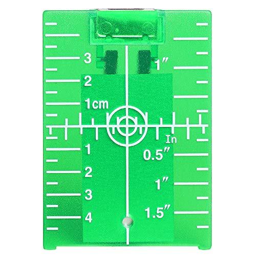 Laser Target Card - Huepar TP01G-Magnetic Floor Laser Target Plate Card with Stand for Green Beam Applications Enhancing the Visibility of Green Laser Lines or Points 1.3 Times
