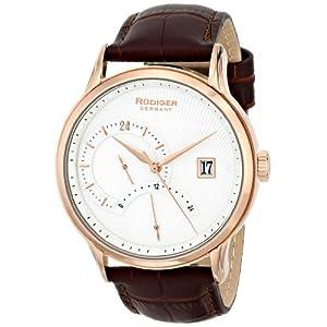 Rudiger Men's R2700-09-001 Aachen Analog Display Quartz Brown Watch