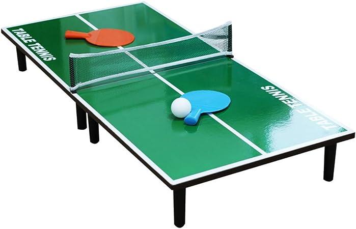 LHSG Mesa de Tenis de Mesa Ultra pequeña, Juego de Mesa de Ping Pong de fácil Montaje, Entrenamiento Deportivo de Juegos Profesionales, Pelota y paletas Incluidas: Amazon.es: Hogar