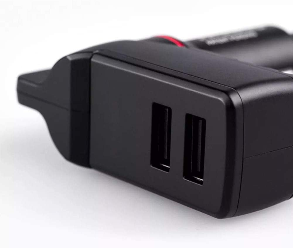 3 in 1 Caricabatterie Doppio USB Porte Max 2.4A e taglierina per Cintura di Sicurezza per Auto Strumento di Emergenza QYY Martello di Sicurezza per Caricabatterie per Auto
