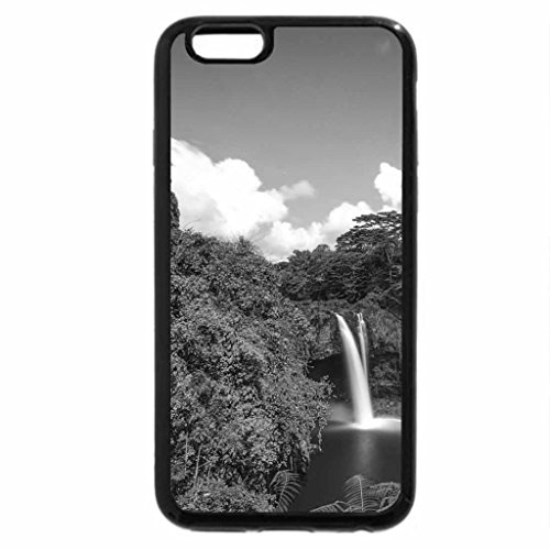 iPhone 6S Case, iPhone 6 Case (Black & White) - rainbow falls in hilo hawaii