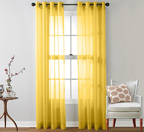 yellow curtains for windows - 5