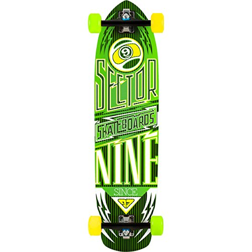 Carbon Flight Longboard Green, One Size (Sector 9 Carbon)