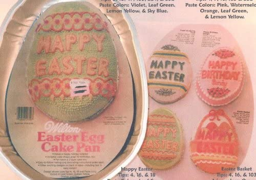 Wilton Easter Egg Happy Easter Egg Cake Pan 502-3495, 1983