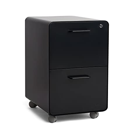 Surprising Poppin Black Stow Rolling 2 Drawer File Cabinet Metal Legal Letter Download Free Architecture Designs Grimeyleaguecom