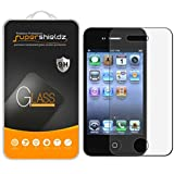 [2-Pack] iPhone 4 / iPhone 4S Tempered Glass Screen Protector, Supershieldz Anti-Scratch, Anti-Fingerprint, Bubble Free, Lifetime Replacement Warranty
