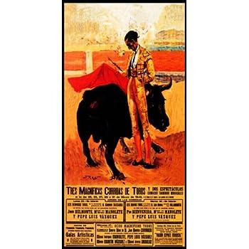 """Plaza De Toros De Marbella #3 Canvas Art Poster 12/""""x 24/"""" Bullfighting"""