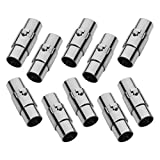 REVEW 10PCS Cord End Caps for Jewelry Making, Magnetic Clasps for Leather with Locking Leather Rope Necklace/Bracelet Buckle (4 mm)