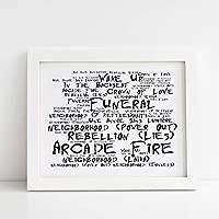 Arcade Fire Poster Print - Funeral - Letra firmada regalo ...