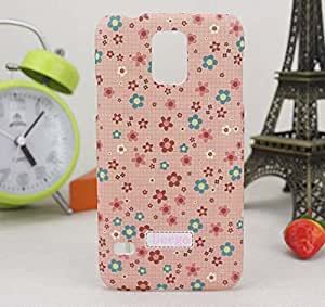 Queens Snap-on Hard Plastic Colorful Flower Pattern Protective Case Cover for Samsung Galaxy S5 With Screen Protect (A-Flower-19)